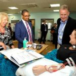 OPENING OF NEW DIALYSIS UNIT BY VAUGHAN GETHING AND MARIA BATTLE